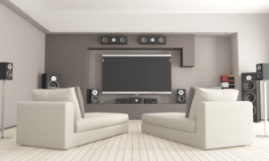 7.1 Speaker Setup in Living Room