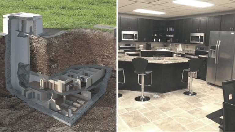 Bunker with elegant below ground amenities