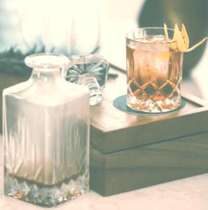 Picture of Decanter and Whiskey Glass