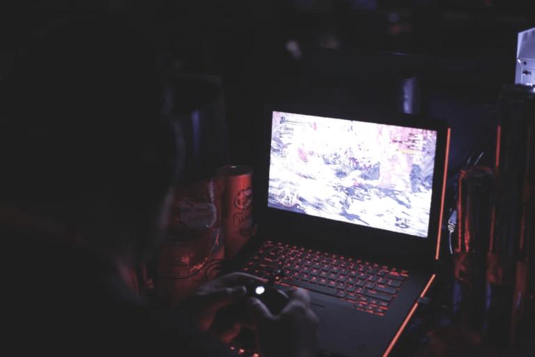 Gaming Laptop in Action